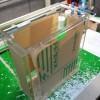 アクリル樹脂を素材にした接点付流量計を、ルーター加工で製作