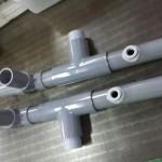 塩ビのパイプで配水管を製作〜旋盤・接着・溶接加工〜